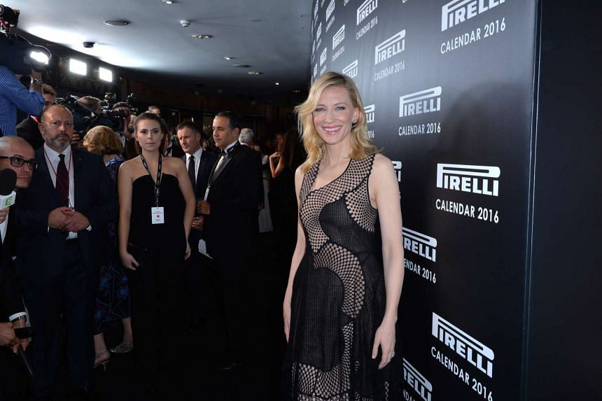 Actress Cate Blanchett at the launch of the 2016 Pirelli calendar in London on Nov 30, 2015.