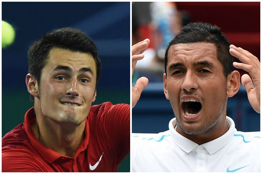 Australian tennis players Bernard Tomic (left) and Nick Kyrgios have mended fences with Tennis Australia, the association's chief said on Dec 2, 2015.