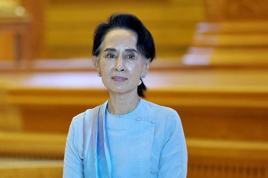National League for Democracy chairman Aung San Suu Kyi attending a Parliament session in Naypyidaw on Dec 1.