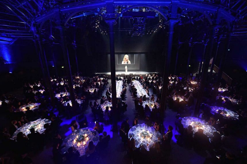 The dinner event after the launch of the 2016 Pirelli calendar in London on Nov 30, 2015.