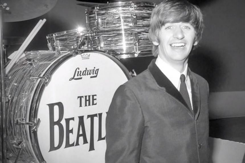 Ringo Starr and his Ludwig Beatles drum kit.