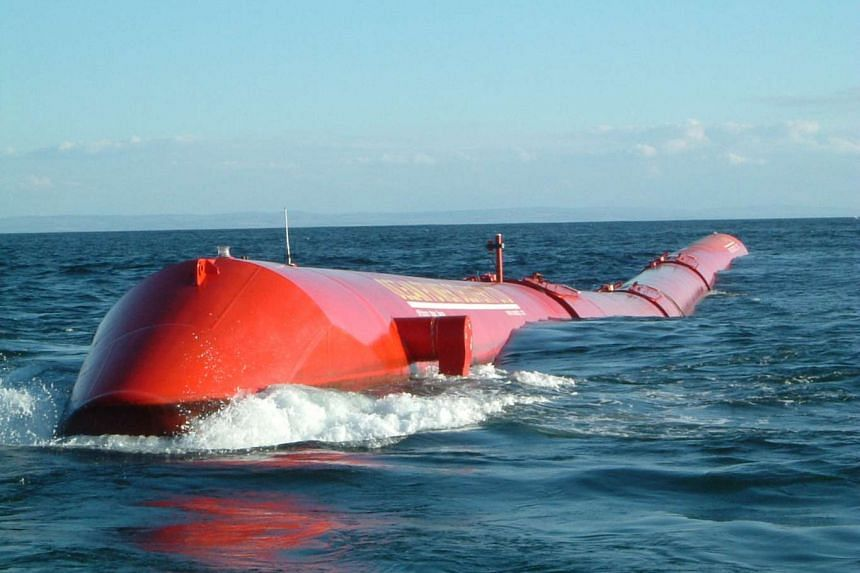 An example of a wave farm that was soon to be implemented back in 2007 in Scotland.