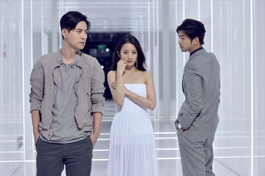(From far left) Vic Chou, Ariel Lin and Chen Bo-lin form a love triangle in Go Lala Go 2, which has the feel of an idol drama series.
