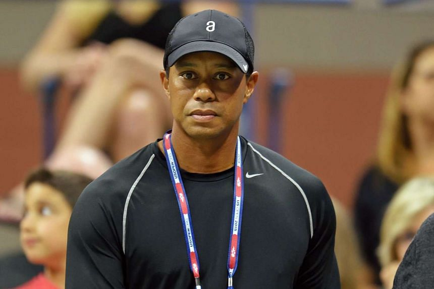 Tiger Woods at the US Open tennis tournament in September 2015.