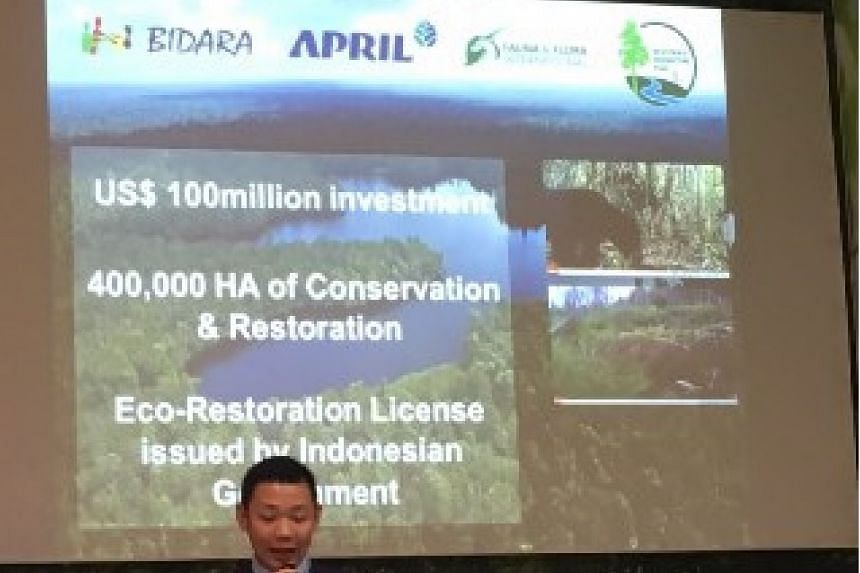 Mr Anderson Tanoto, director of Asia Pacific Resources International Holdings Ltd (April), at the announcement of the new forest project on Dec 1, 2015.