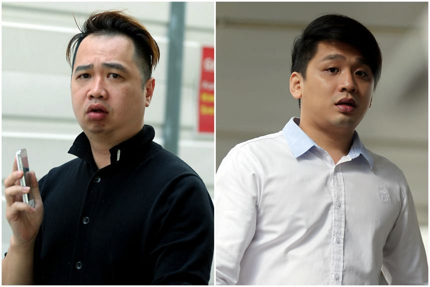 Hui Yew Kong (left) is claiming trial to alerting Samuel Lim Yong Choon (right) of an impending police raid.