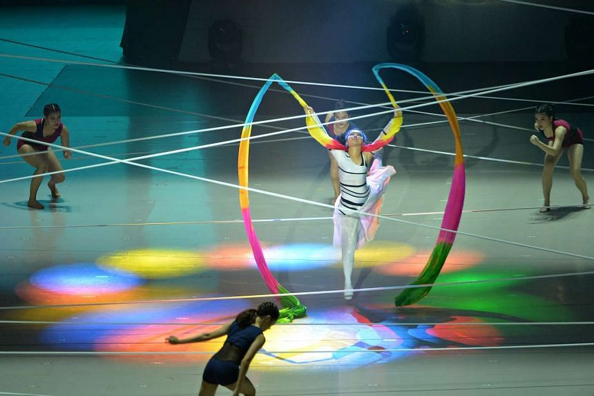 The audience at the Asean Para Games opening ceremony was treated to performances from both able-bodied and disabled performers working together.