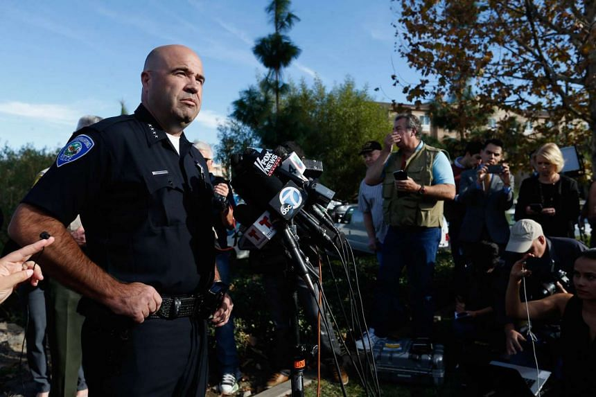 San Bernardino Police Chief Jarrod Burguan speaks with the media regarding the mass shooting that occurred at the Inland Regional Centre.