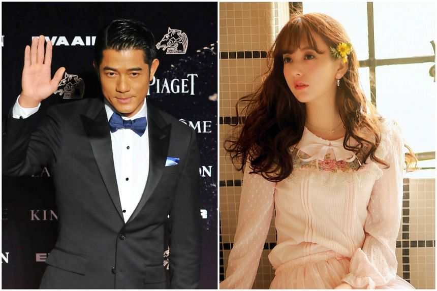 Chinese model Moka Fang (right) is the first girlfriend Aaron Kwok has openly acknowledged in his decades in show business.