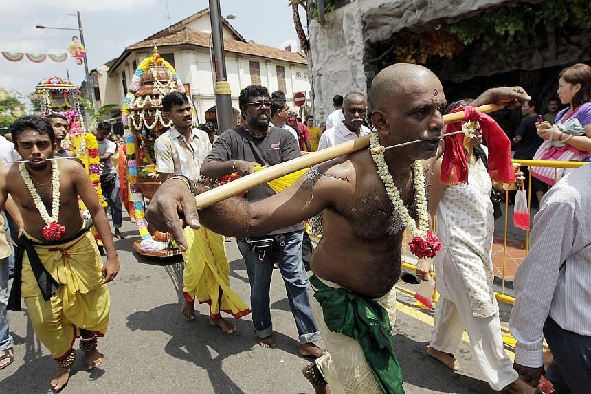 The Thaipusam procession in 2011. For the first time in more than four decades, live music will be allowed for next year's festival procession.