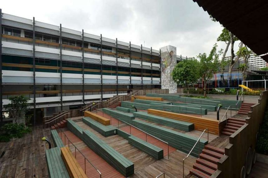 The outdoor amphitheatre at the Enabling Village, a one-stop place for people with disabilities.