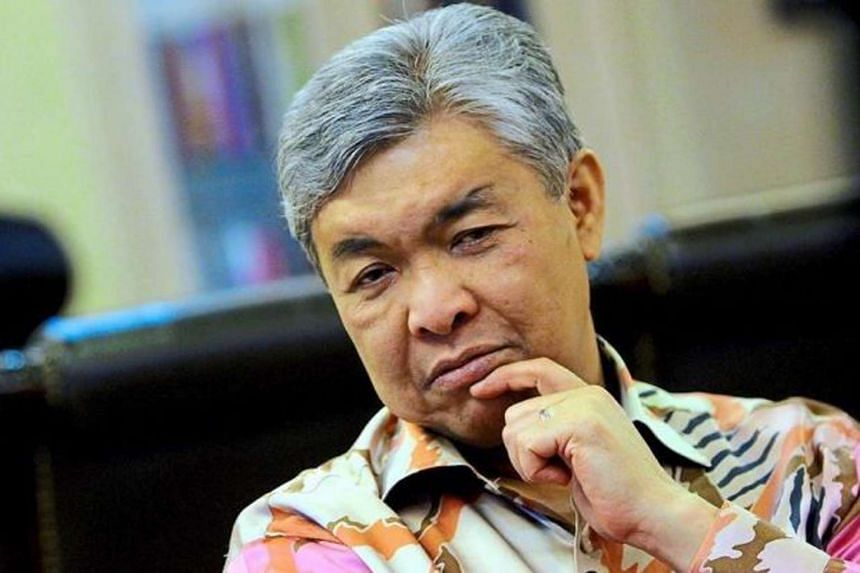 Malaysia's Deputy Prime Minister Ahmad Zahid Hamidi gave a short explanation regarding the ongoing investigations on Malaysian Prime Minister Najib Razak.