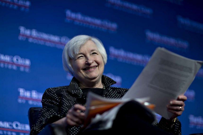 US Federal Reserve chair Janet Yellen at an Economic Club of Washington discussion on Dec 2, 2015.