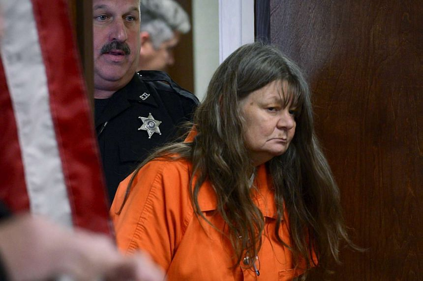Deborah Leonard enters the court room to face manslaughter charges in the death of her 19-year-old son Lucas Leonard in a New York church.