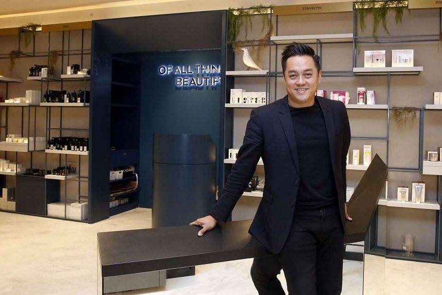 Mr Alwyn Chong, the owner and managing director of Escentials, at its newly renovated store in Paragon.