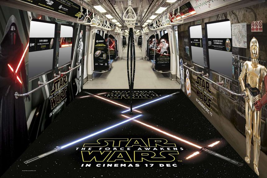 An artist's impression of Singapore's first Star Wars-themed train.