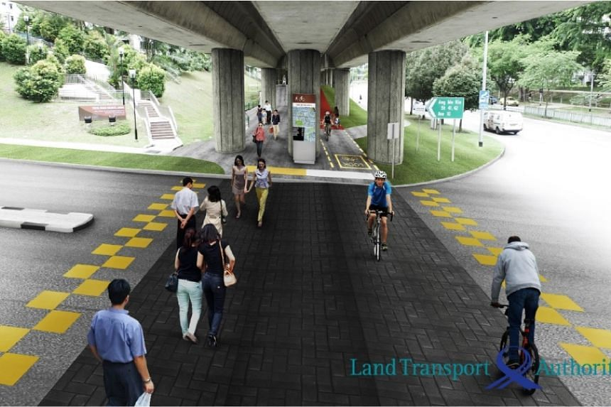 The 16-km cycling path network will include a 2.6-km cycling and walking corridor connecting the MRT viaduct between Yio Chu Kang MRT station and Bishan-Ang Mo Kio.