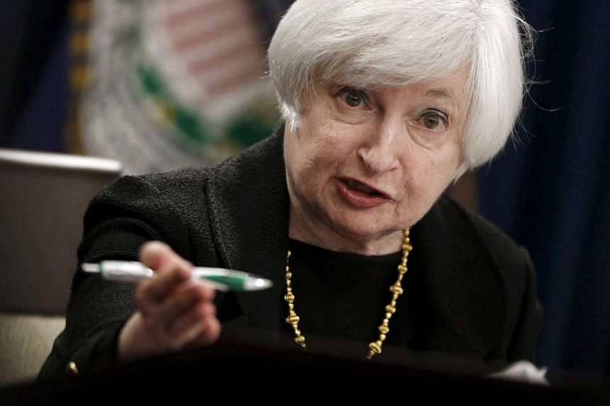 Yellen (above) did not indicate if she still expected a rate hike in December 2015.