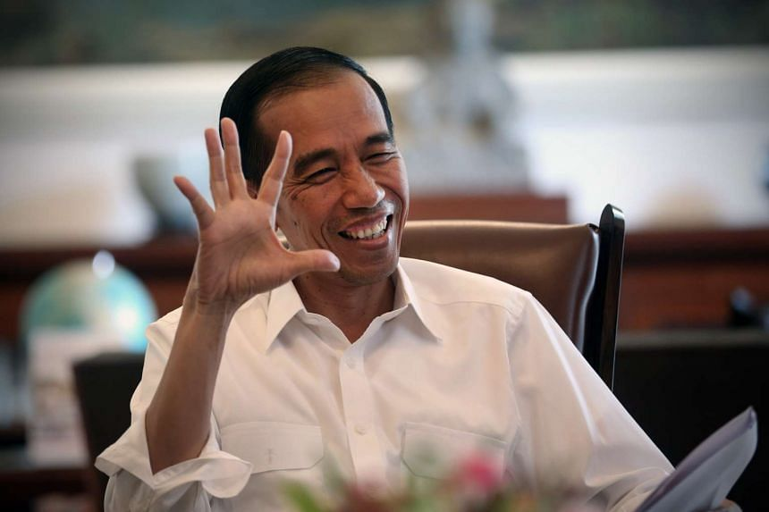 President Joko Widodo during an interview in his office.