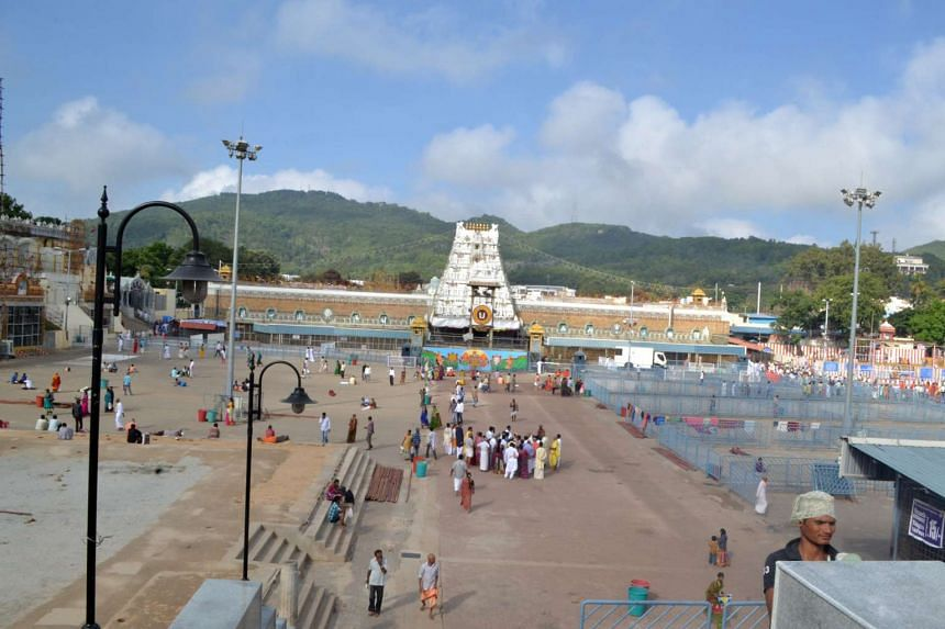 An overview of the main Sri Venkateswara Swamy temple.