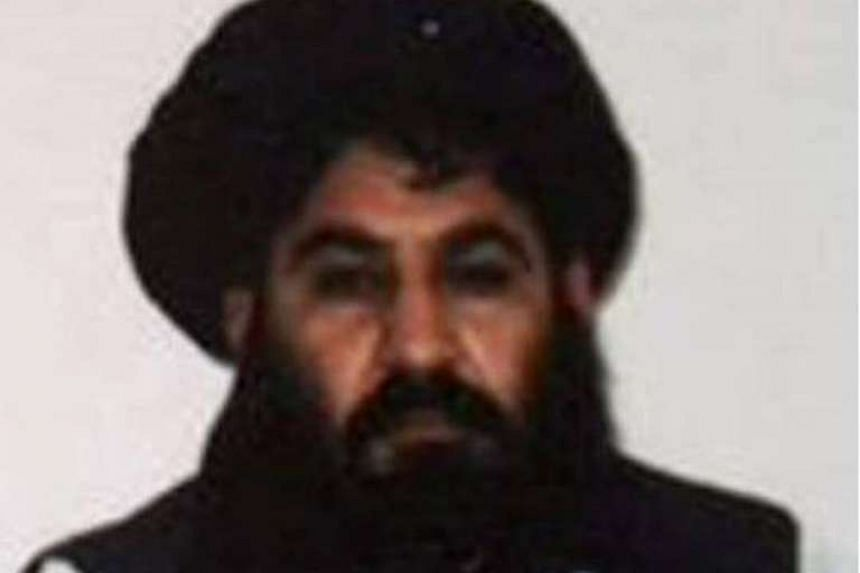 Mullah Akhtar Mansour at an undisclosed location in Afghanistan in 2014.