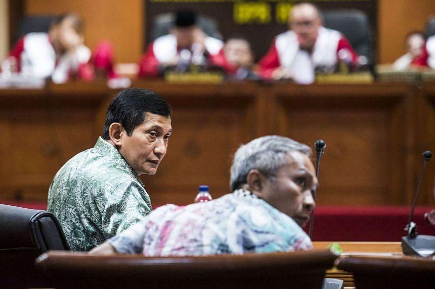 Maroef Sjamsoeddin (left), head of Freeport McMoRan Inc's Indonesian operations.