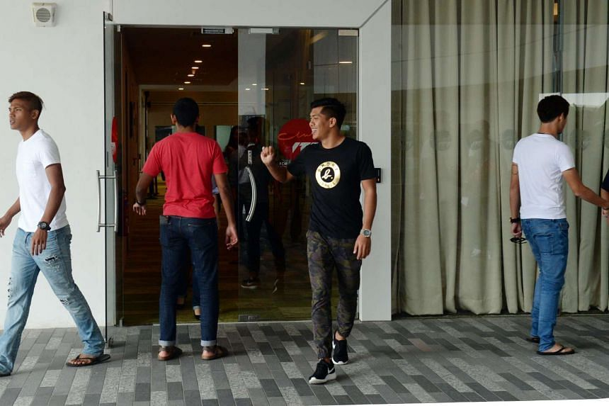 Fandi Ahmad's squad met up with FAS officials and were told the news on Dec 4, 2015.