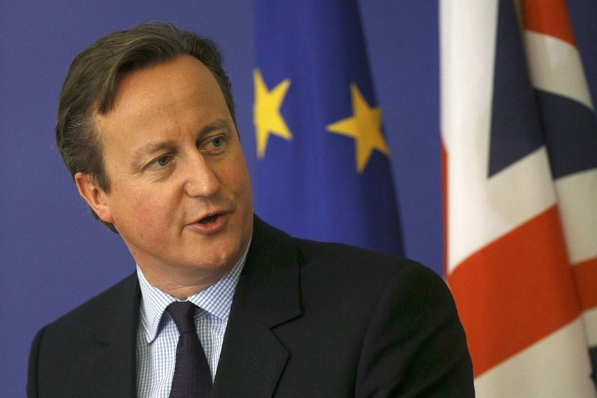 Britain's Prime Minister David Cameron addresses a news conference in Bulgaria on Dec 3.