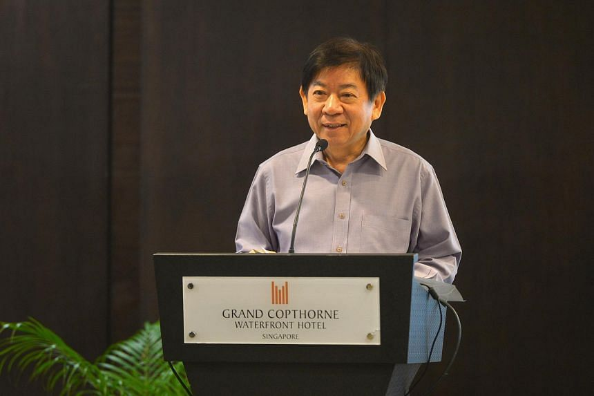 Transport Minister Khaw Boon Wan speaking at the signing of the MOU on joint infrastructural maintenance between LTA, PUB, SMRT and SBST held at the Grand Copthorne Waterfront hotel on Dec 4.