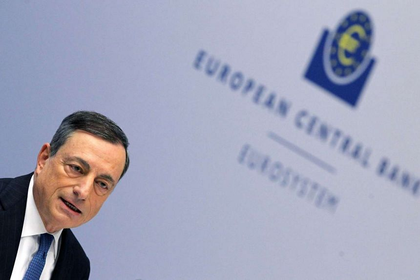 ECB president Mario Draghi addresses a press conference on Dec 3, 2015.