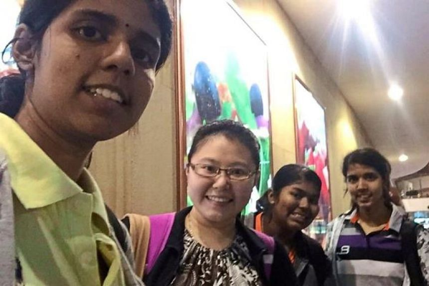 The quartet of dentistry students arriving safely at Kuala Lumpur International Airport.