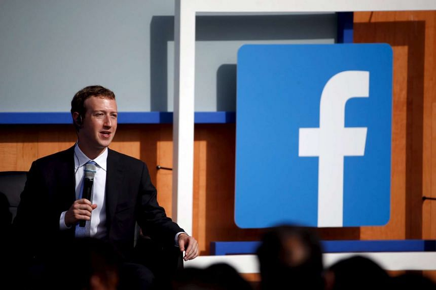 Facebook CEO Mark Zuckerberg speaks on stage during a town hall with Indian Prime Minister Narendra Modi at Facebook's headquarters in Menlo Park, California on Sept 27.