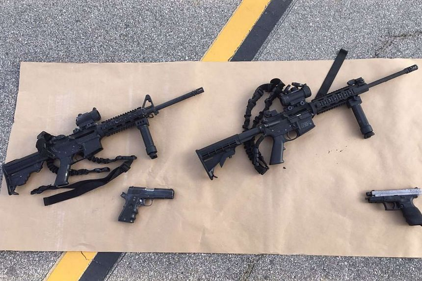 Weapons carried by the suspects.