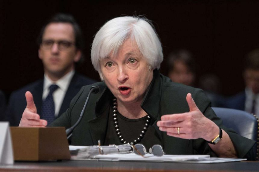 """Yellen testifies before a Joint Economic Committee hearing on """"The Economic Outlook."""""""