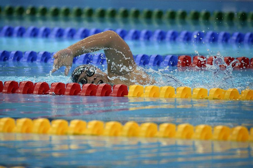 Gold medalist Theresa Goh of Singapore in action during the 100m Freestyle- S5 Timed Final on Dec 4.