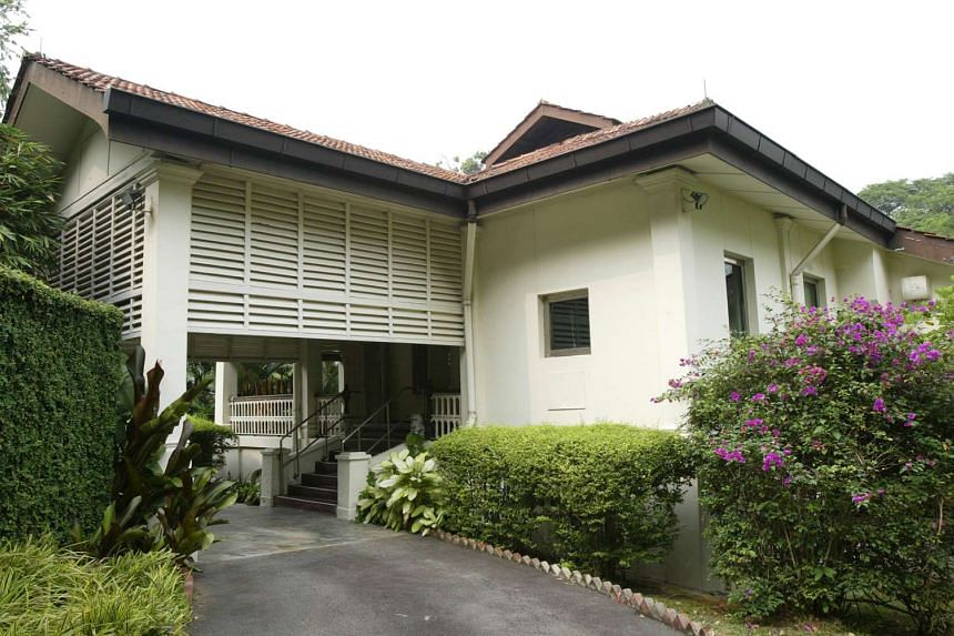 The facade of 38 Oxley Road, the residence of the late Mr Lee Kuan Yew.