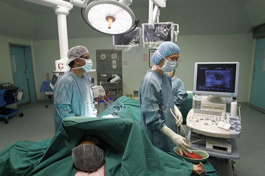 Inside the operating theatre at Changi General Hospital.