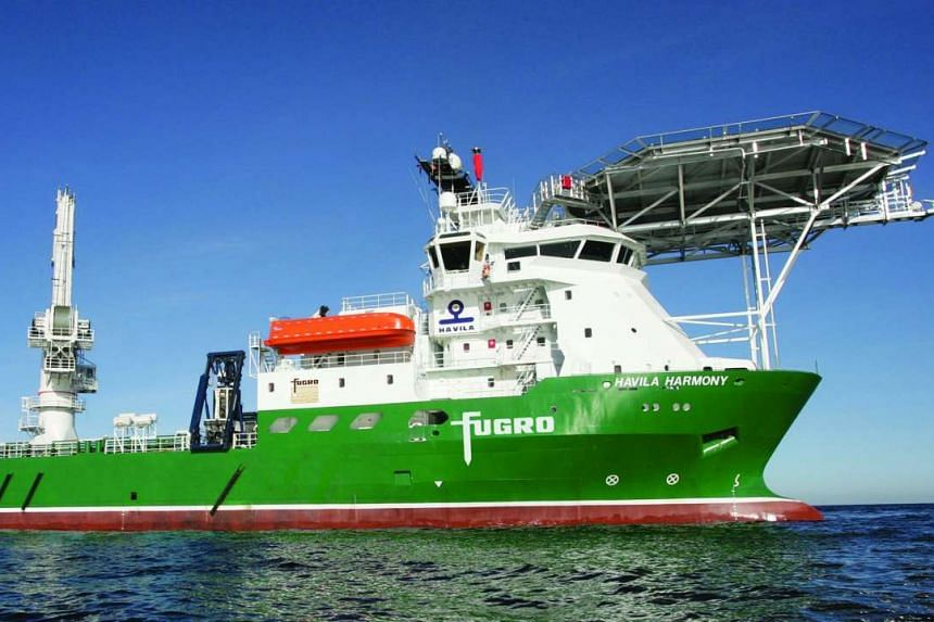Search vessel Havila Harmony scouring the southern Indian Ocean for Malaysia Airlines Flight MH370, which disappeared with 239 people on board en route from Kuala Lumpur to Beijing in March last year. A report says that based on the final satellite l