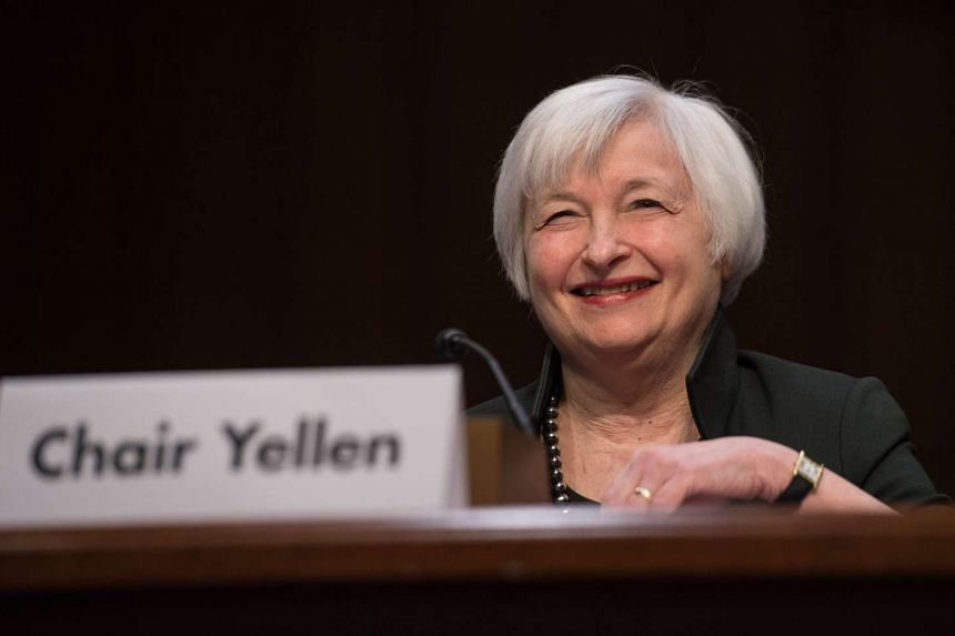 "Yellen testifies before a Joint Economic Committee hearing on ""The Economic Outlook"" in Washington."
