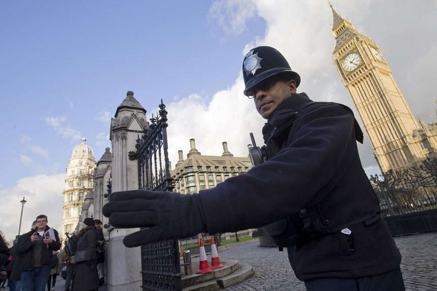 A police officer outside the Houses of Parliament in London on Nov 25.