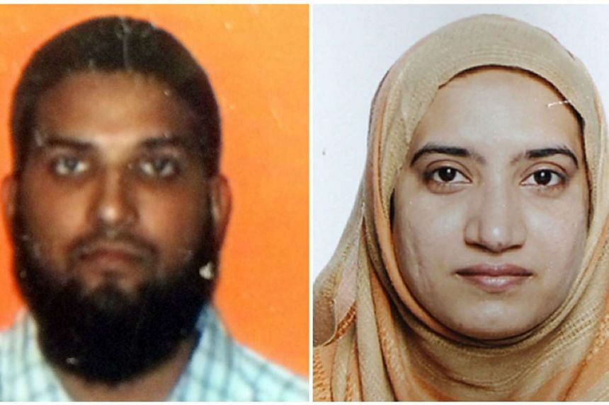 The two California shooting attackers, Syed Farook (left) and Tashfeen Malik.