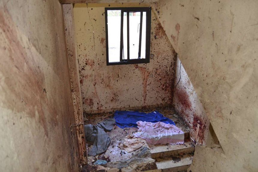The interior of the building where Mohammad Hamzeh blew himself up.