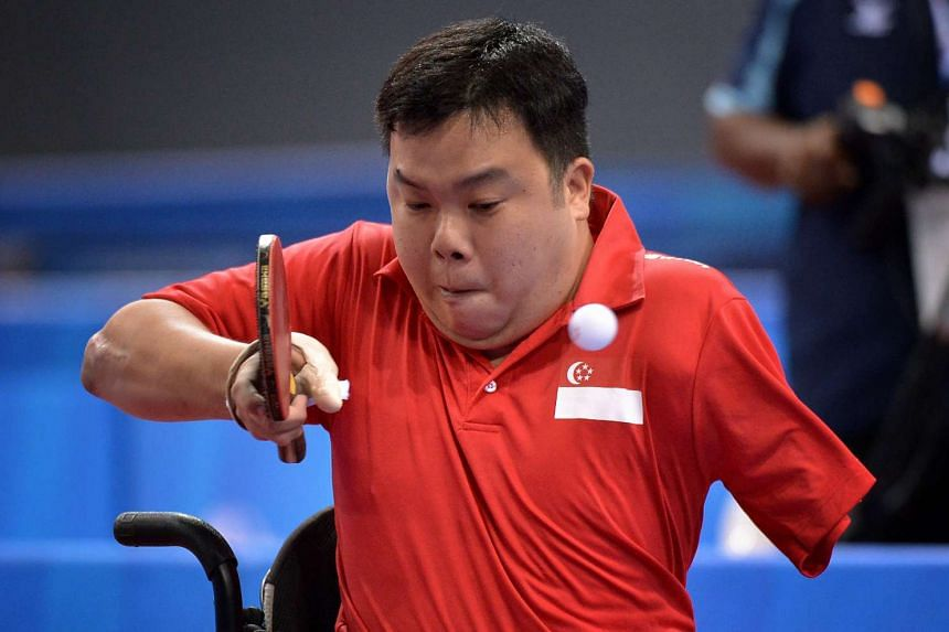 Jason Chee in action at the Asean Para Games on Dec 5, 2015.