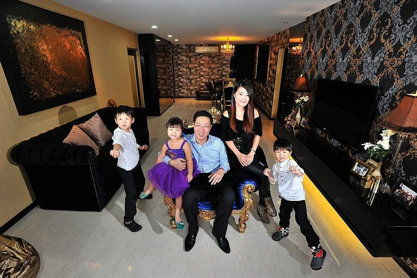 Dr Victor Lim and Ms Yvonne Gan (above) at home with their children, (from left) Alden, seven; Arielle, three; and Avern, four.