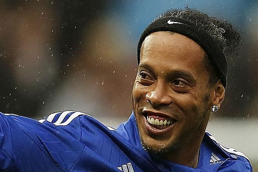 Besides launching the tie-up with Tampines, former Brazilian star Ronaldinho will also visit ITE College Central.