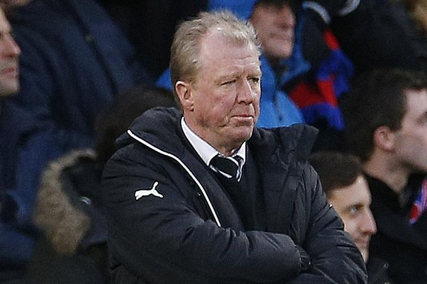 Steve McClaren watching his team take on Crystal Palace last weekend. The Newcastle United manager faces a stiff test against Liverpool tomorrow.