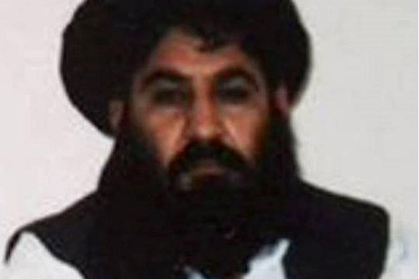 """A handout photograph released by the Afghan Taleban on Thursday, which is said to be a picture of Mullah Akhtar Mansour taken last year. Reports of his death or wounding have been dismissed as """"enemy propaganda"""" by the Taleban."""