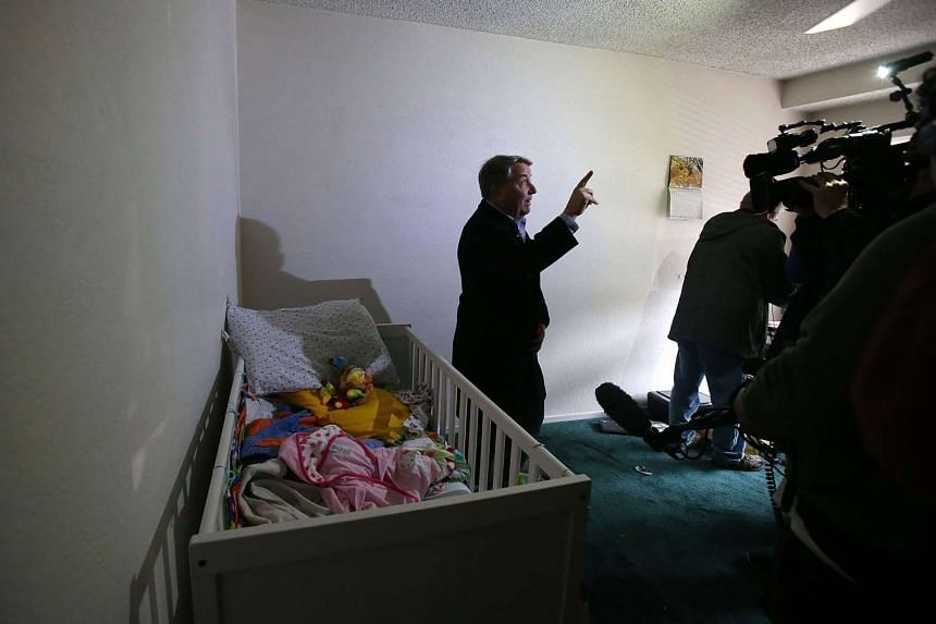 A reporter does a live shot inside the home of shooting suspect Syed Farook.