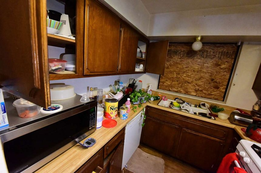 A view of the kitchen inside the home of shooting suspect Syed Farook.