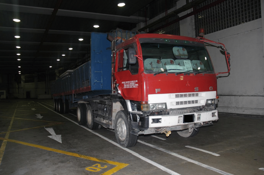 The lorry which the drugs were found in.